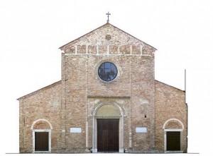 Immagine dell'intera facciata raddrizzata e mosaicata
